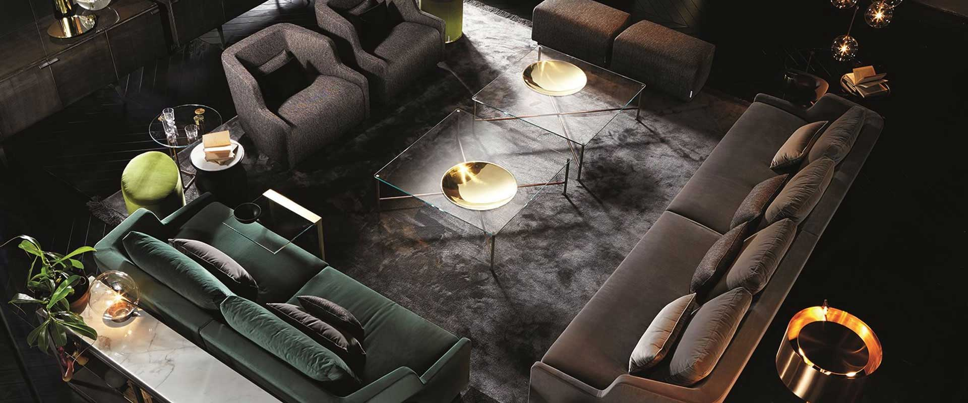 metal and glass furniture by gallotti and radice