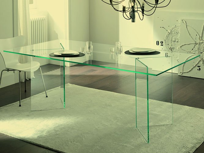 bespoke glass desk