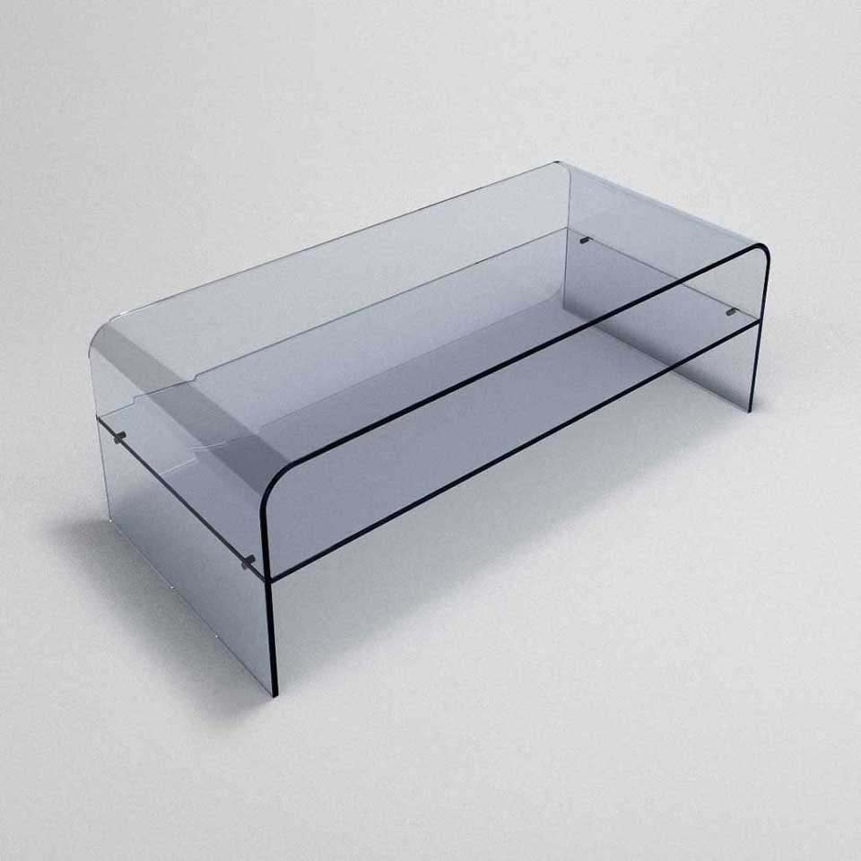 Classic Glass Coffee Table With Shelf Klarity Glass Furniture