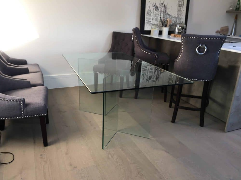 Bacco Glass Dining Table
