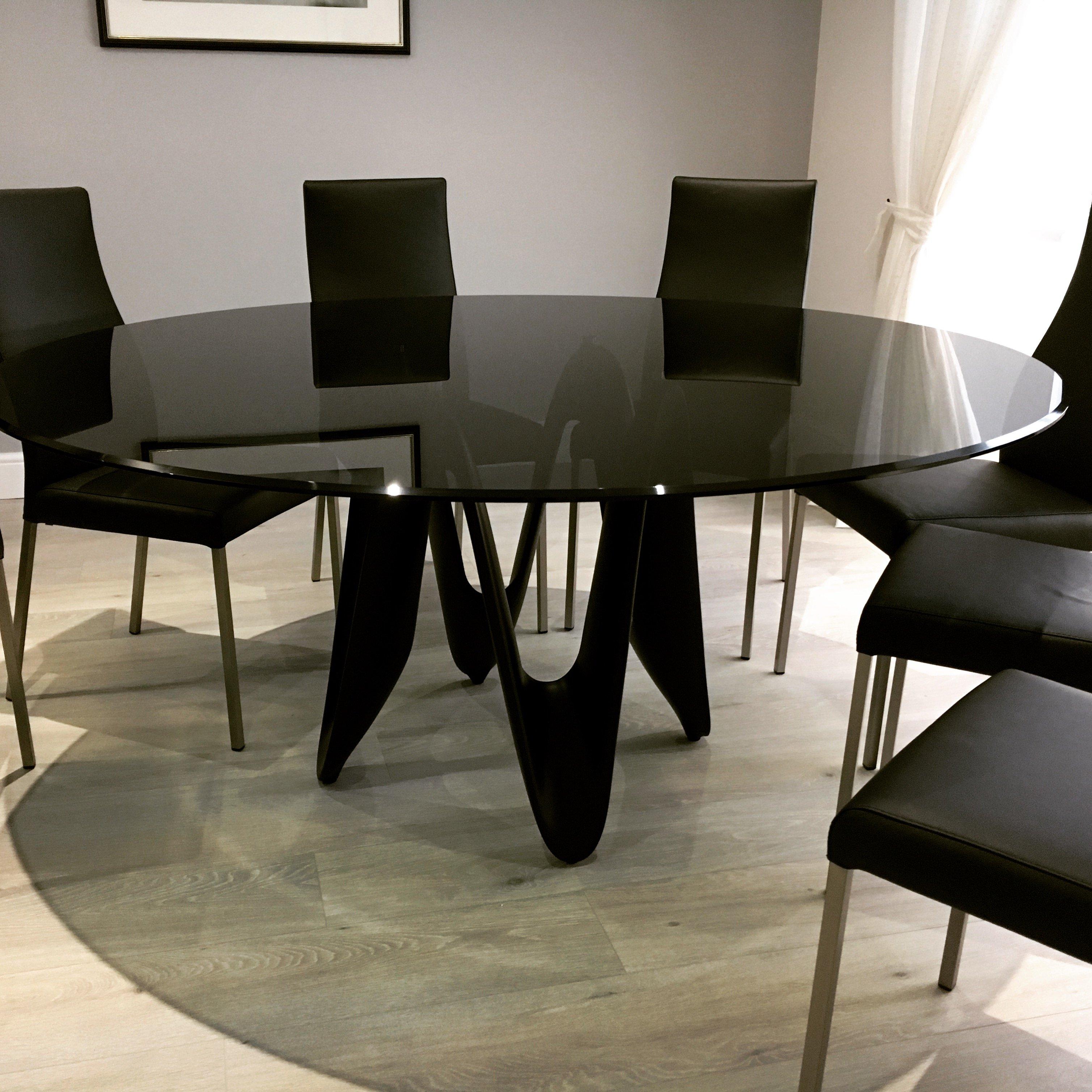 Lambda Smoked Glass Dining table