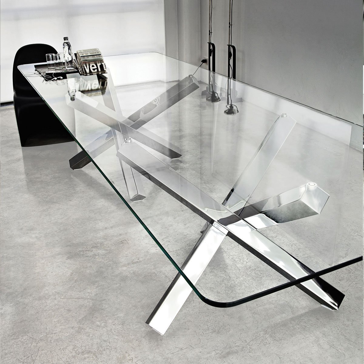 Aikido Large Glass Dining Table Klarity Glass Furniture