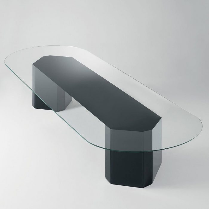 Akim Glass Table by Gallotti & Radice