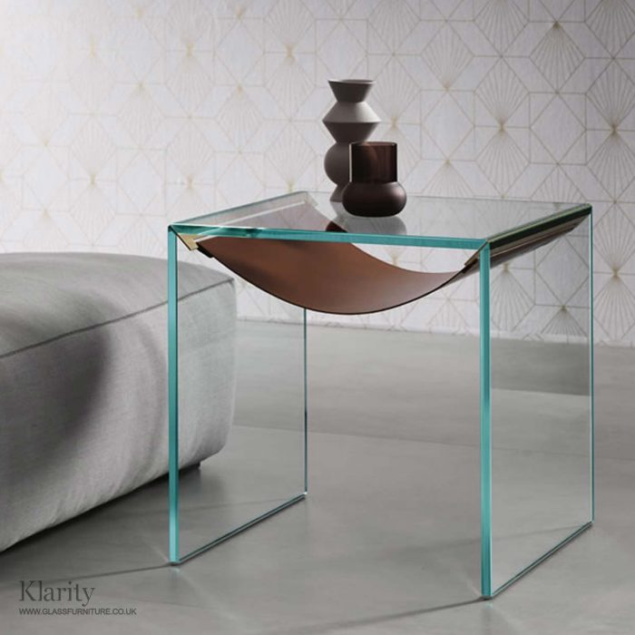 Amaca tonelli side table glass