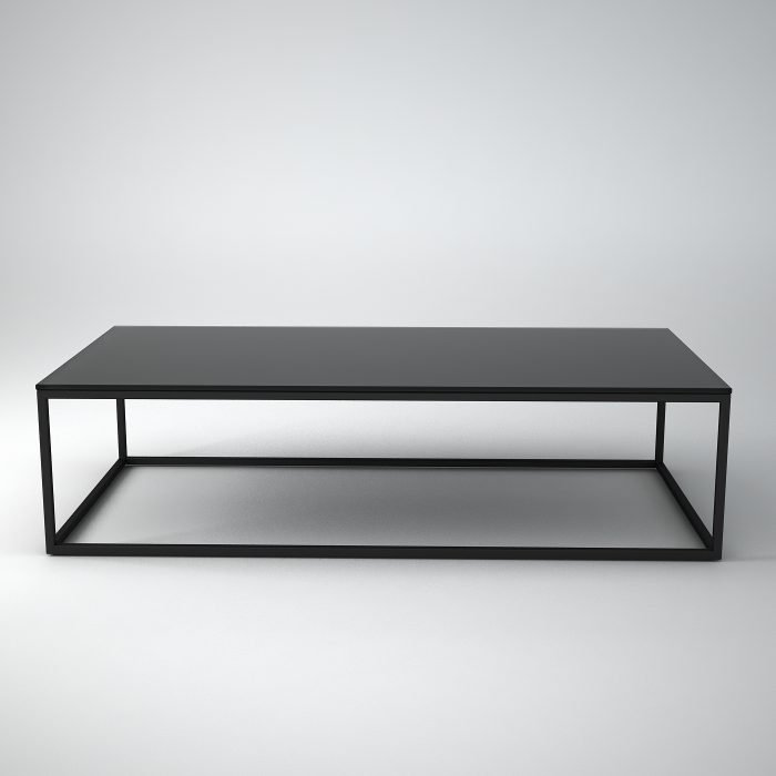 Black-metal-glass-coffee-table