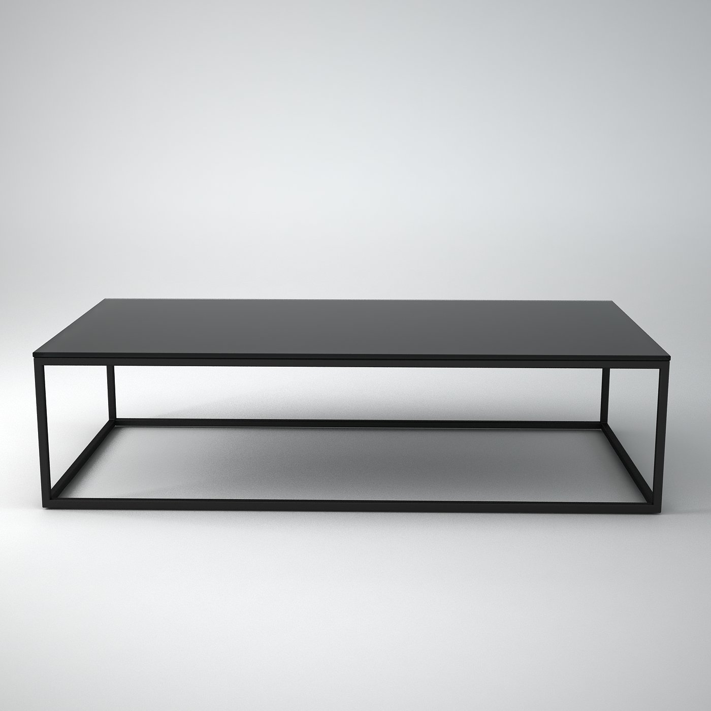 - Cube - Metal And Glass Coffee Table - Klarity - Glass Furniture