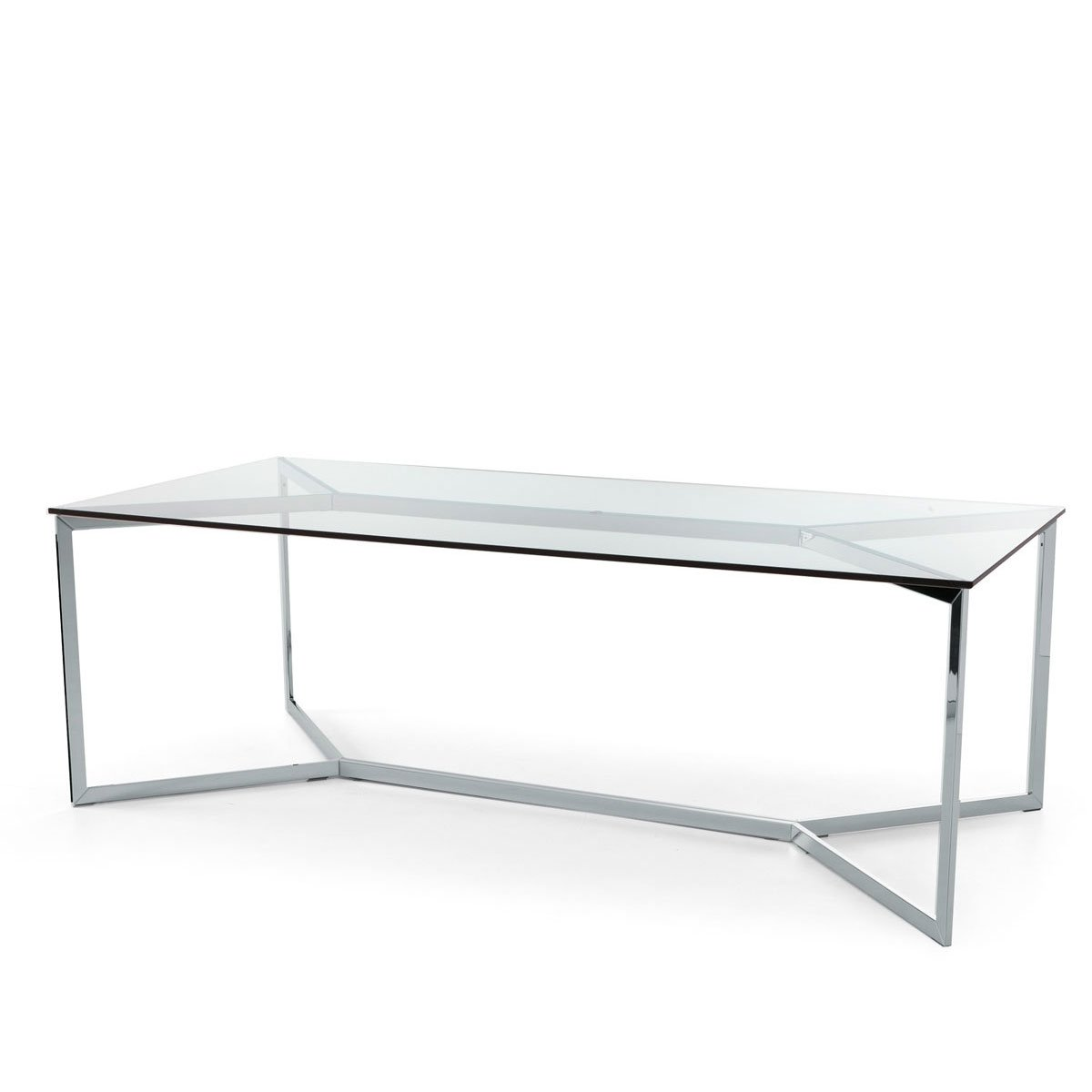 Carlomagno Glass And Metal Table By Gallotti Radice Klarity Glass Furniture