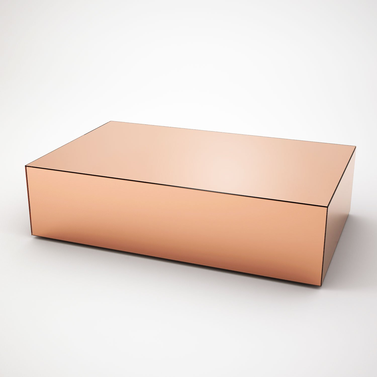 Rectangular Copper Mirrored Coffee Table By Mirrorbox