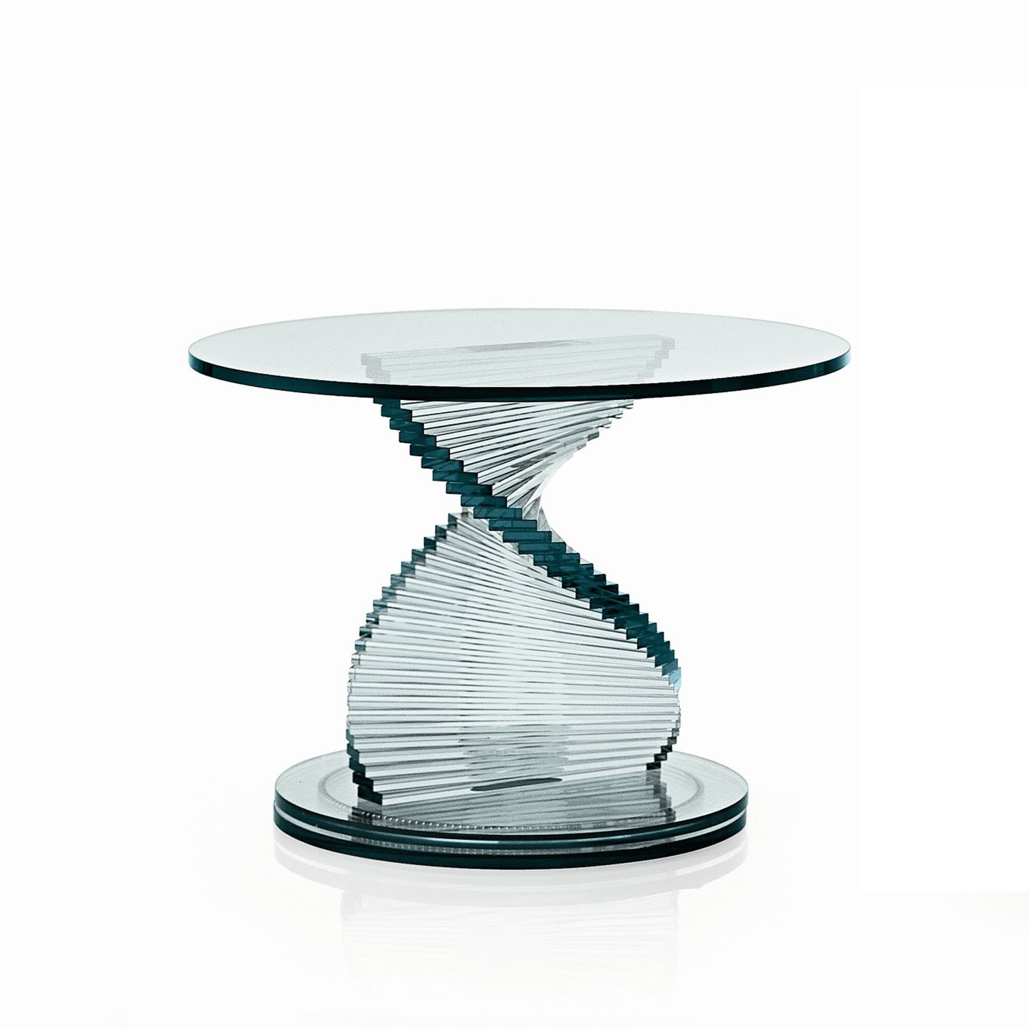 Elica table in glass klarity glass furniture for Glass furniture
