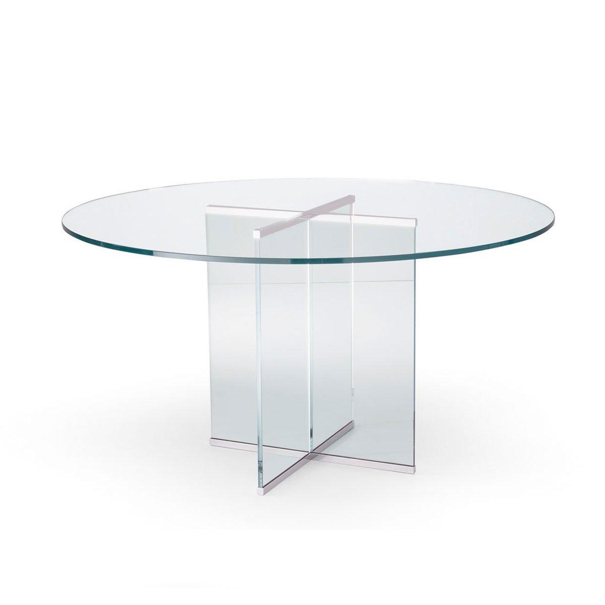 Eros All Circular Glass Table By Gallotti U0026 Radice