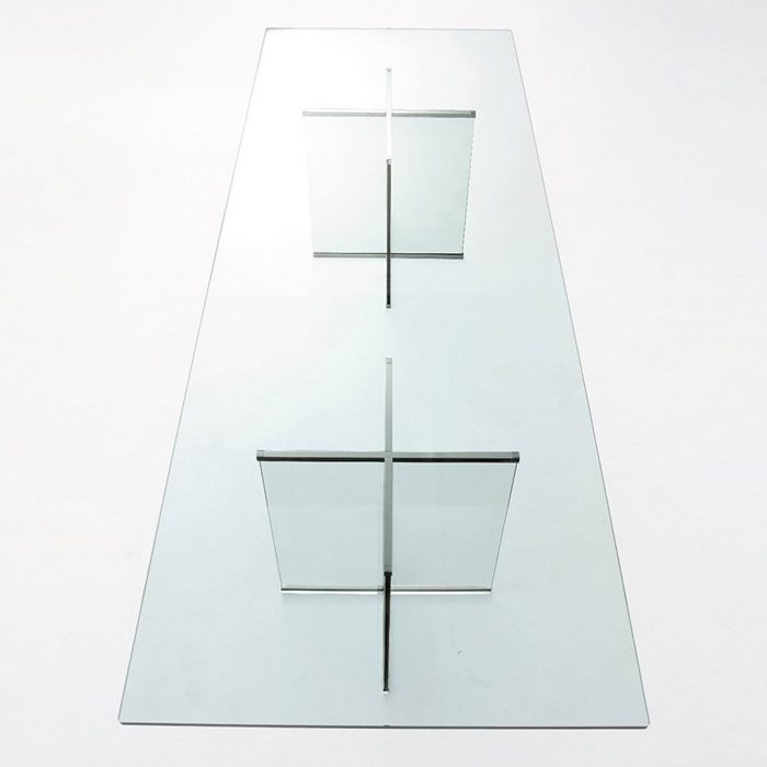 Eros All Rectangular Glass Table by Gallotti & Radice