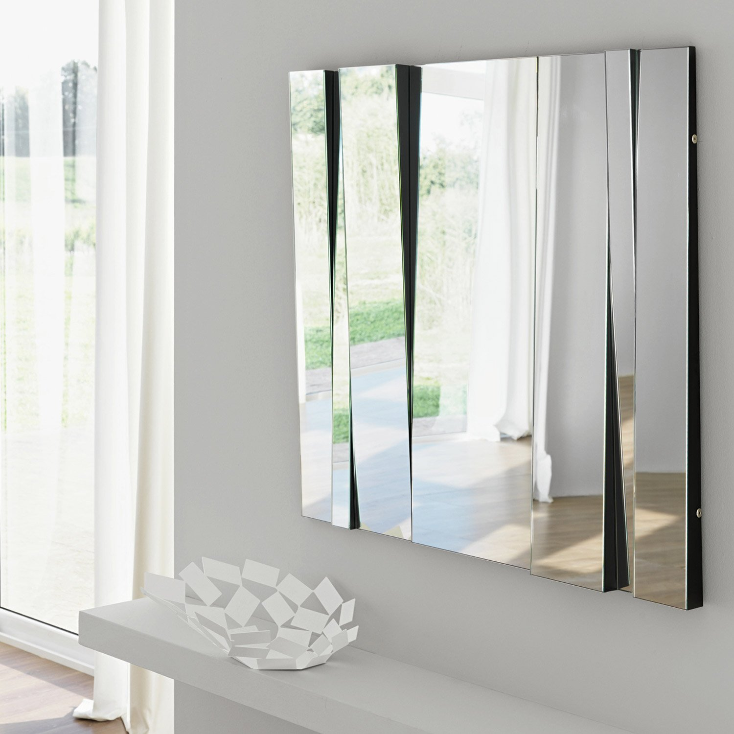 Fittipaldi 90 glass mirror by tonelli klarity glass furniture Mirror glass furniture