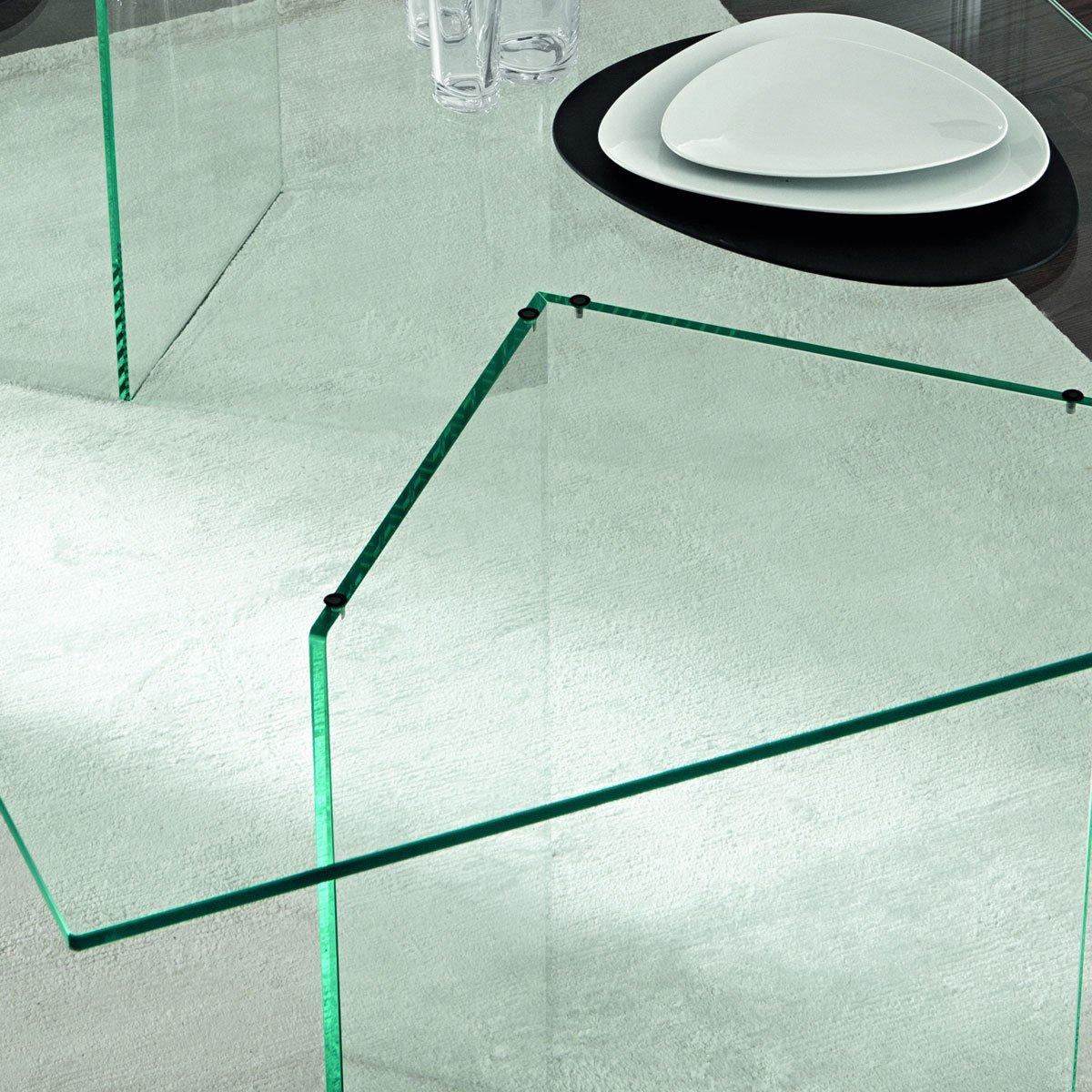 tonelli bacco glass dining table  klarity glass furniture -