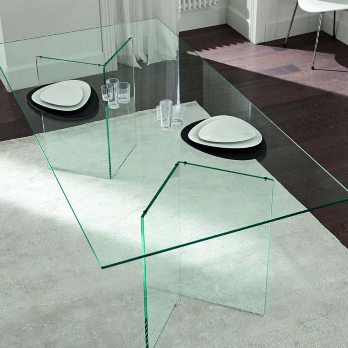 bacco all glass dining table klarity best metal dining room table bases contemporary