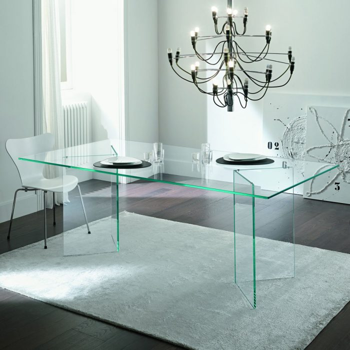 Extending Dining Table Sovet Palace Klarity Glass Furniture