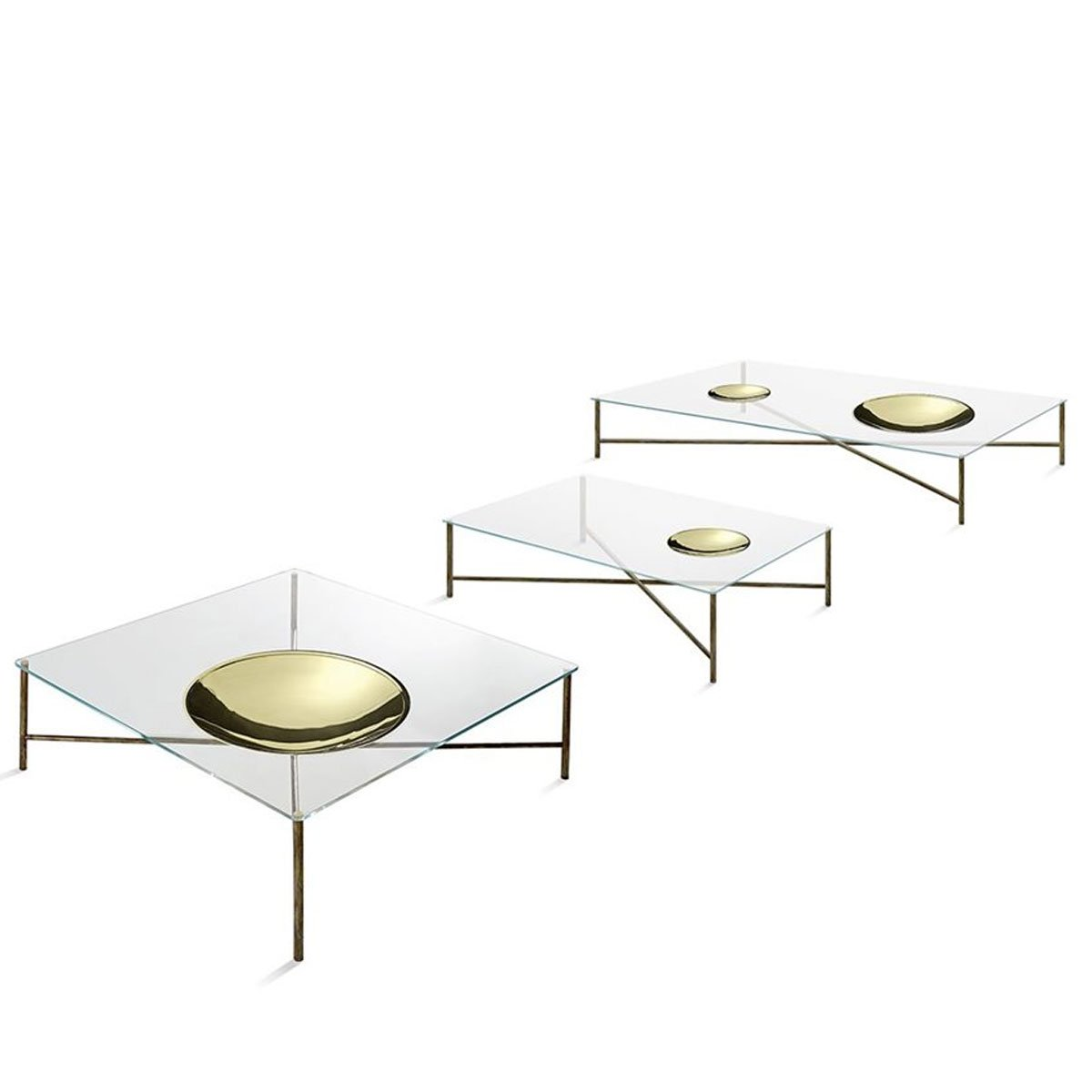 Golden Moon Glass And Brass Coffee Table By Gallotti Radice Klarity Glass Furniture
