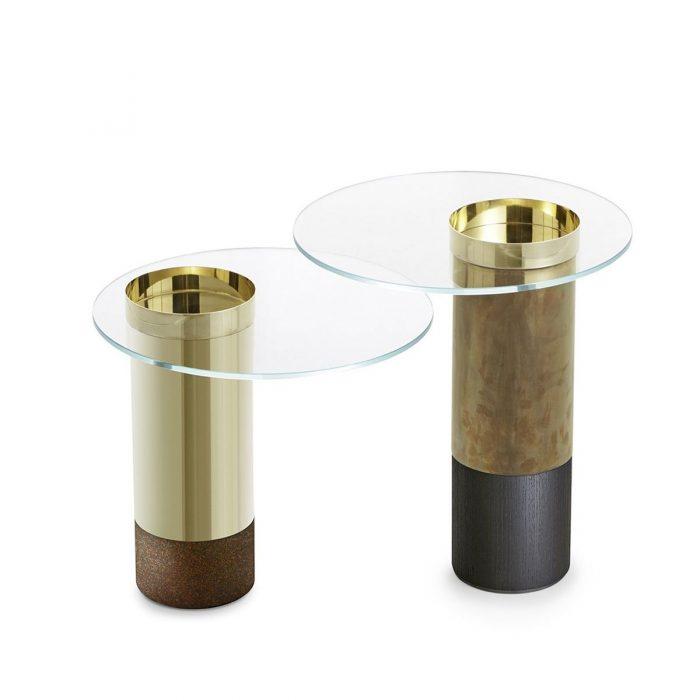 Haumea Glass and Metal Coffee Table by Gallotti & Radice