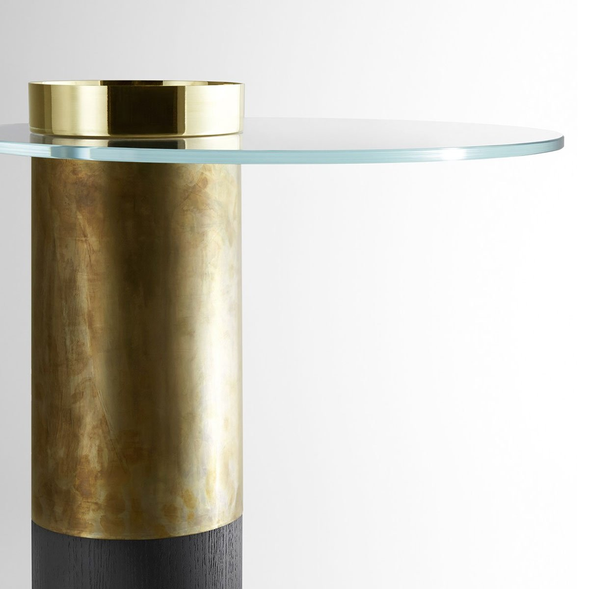 Haumea glass and metal coffee table by gallotti radice for Glass furniture