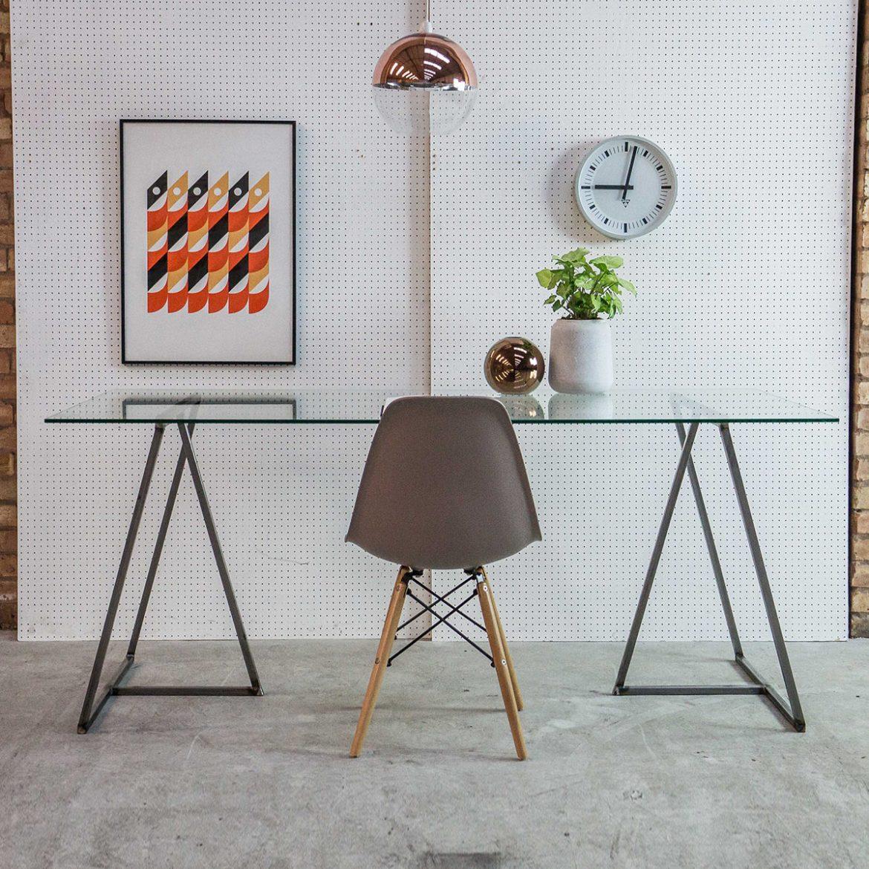 Industrial Trestle Desk