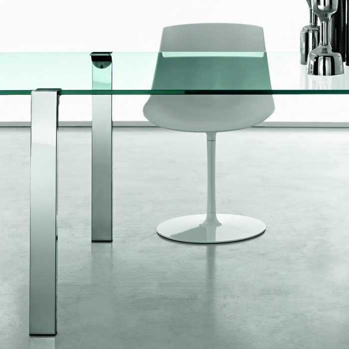 livingstone glass dining table tonelli