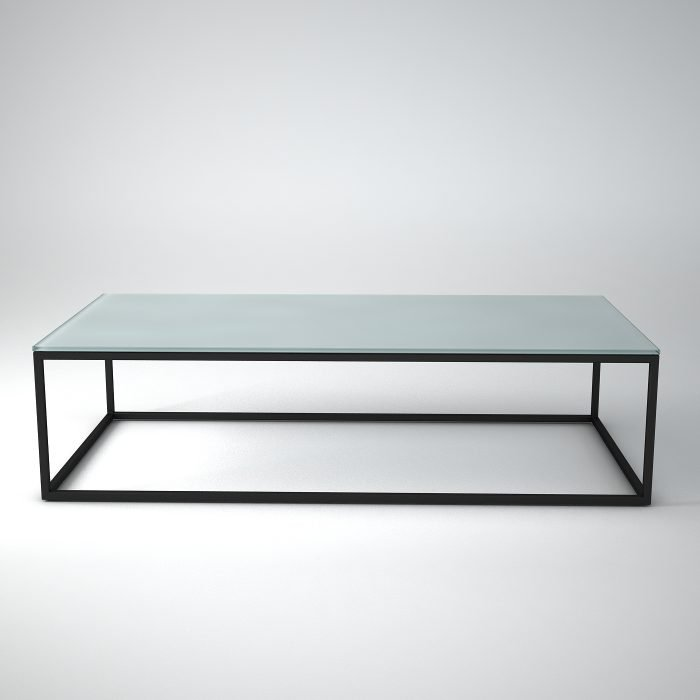 Metal-and-glass-coffee-table