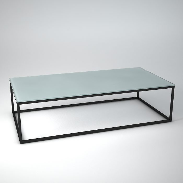 Metal-glass-coffee-table