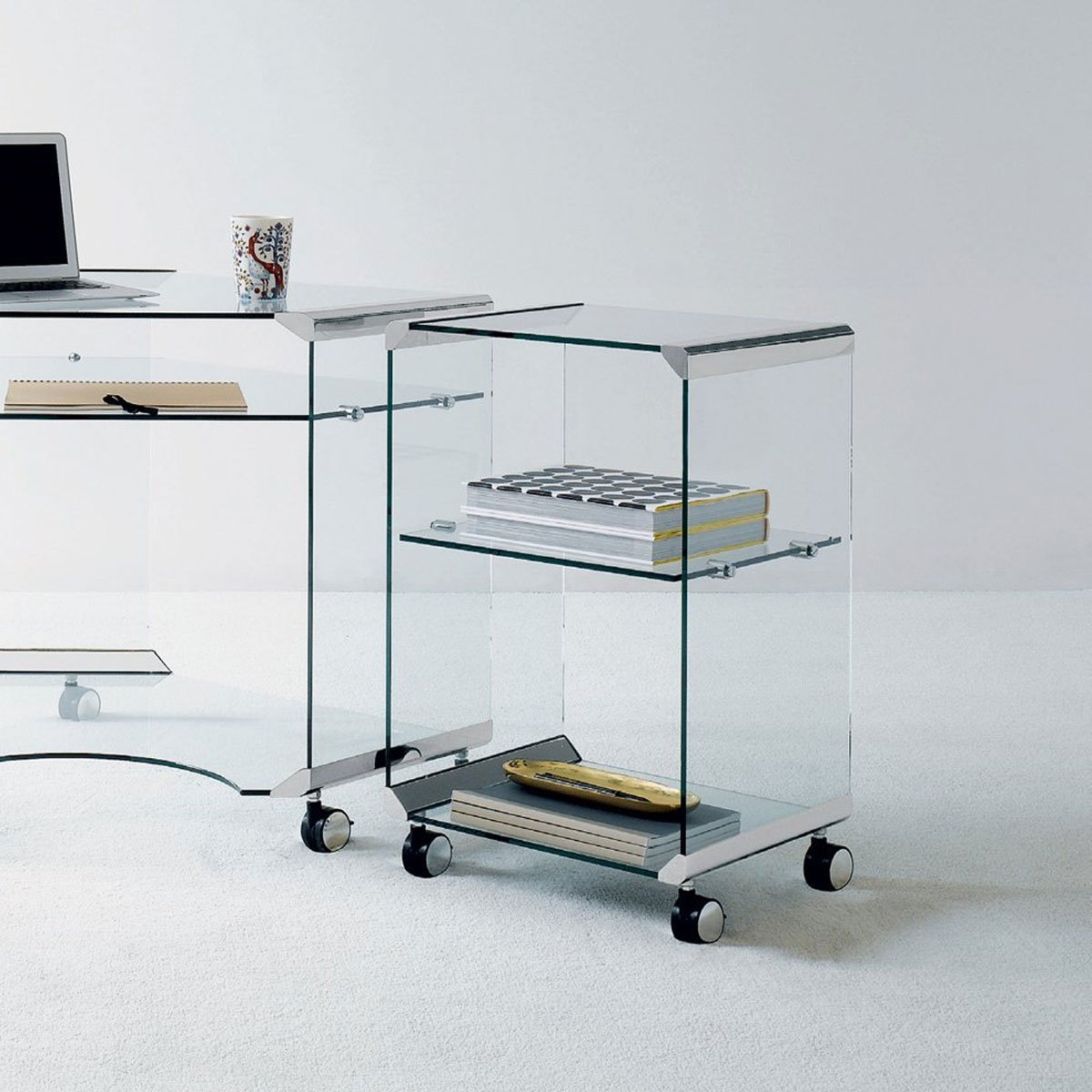 Movie Office B Glass Storage By Gallotti Radice Klarity Glass Furniture