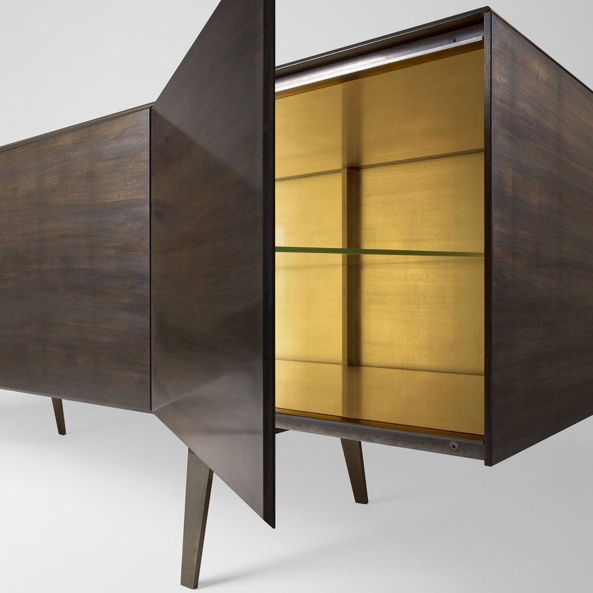 Pandora glass sideboard by gallotti radice klarity for Sideboard glas