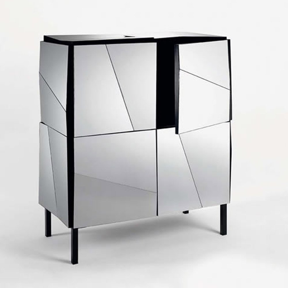 Psiche mirrored cabinet by tonelli klarity glass furniture for Glass furniture
