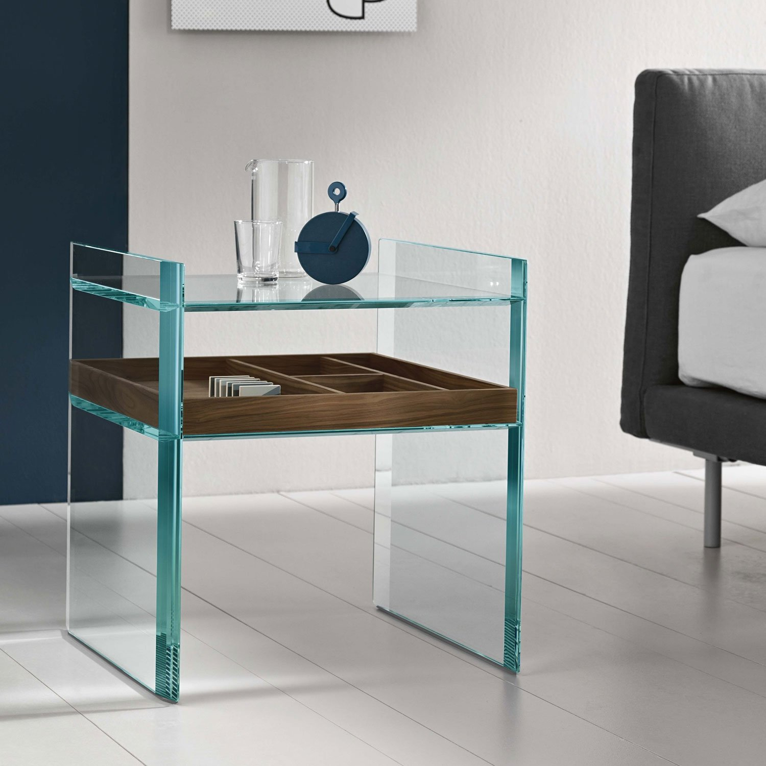Quiller Side Table Klarity Glass Furniture