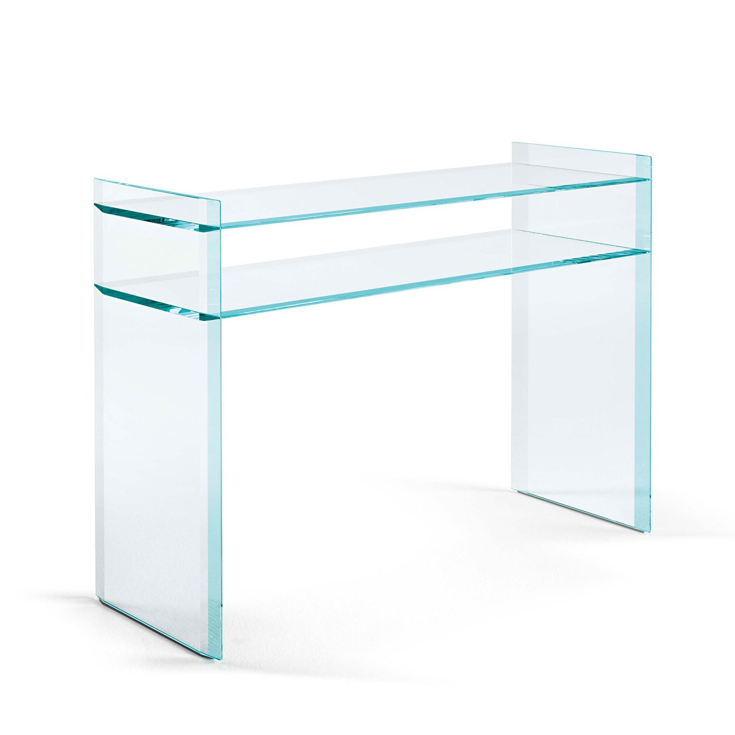 quiller console table in glass  klarity glass furniture - klarity  glass furniture shop  glass console tables  quiller consoletable