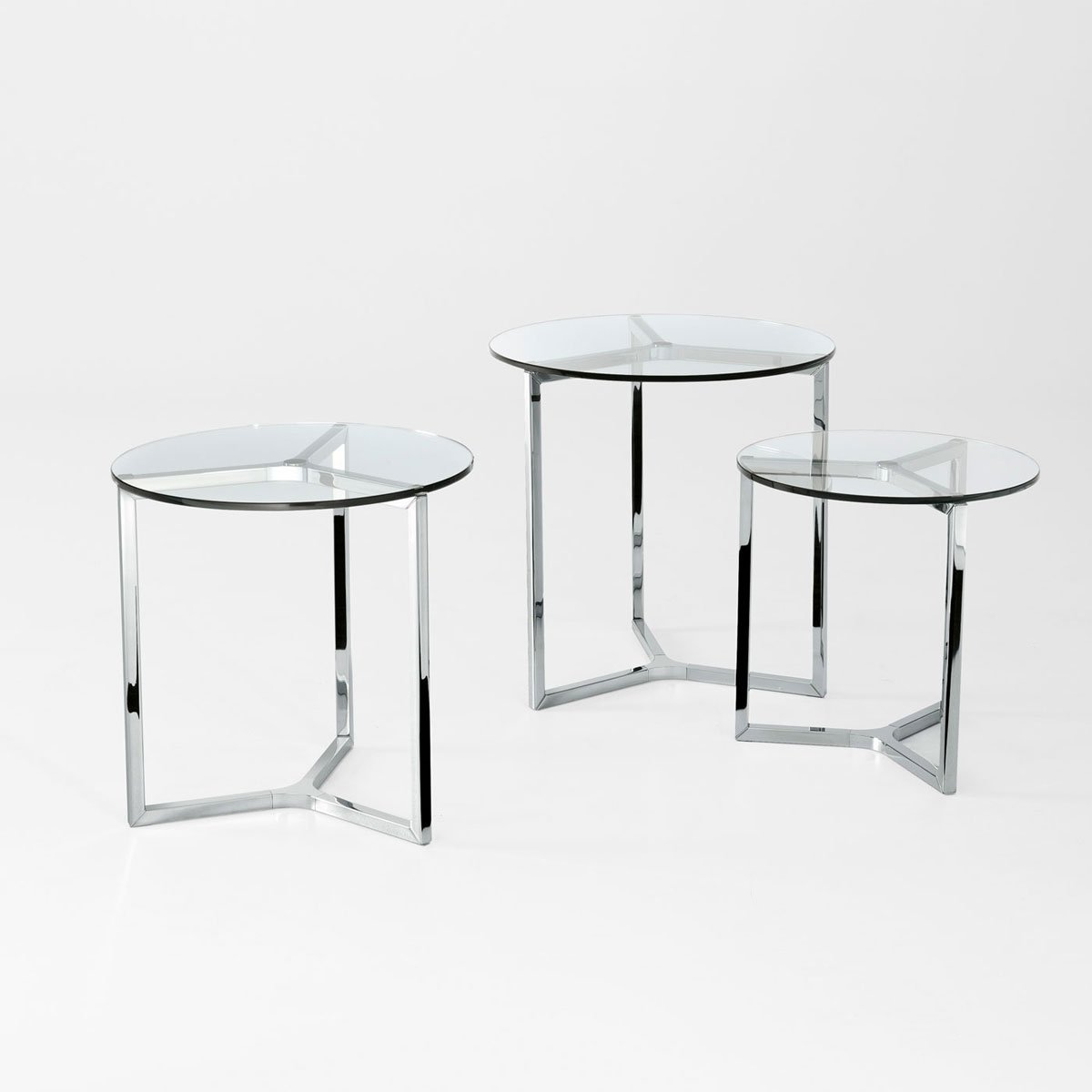 Raj 2 Glass And Metal Side Table By Gallotti Radice