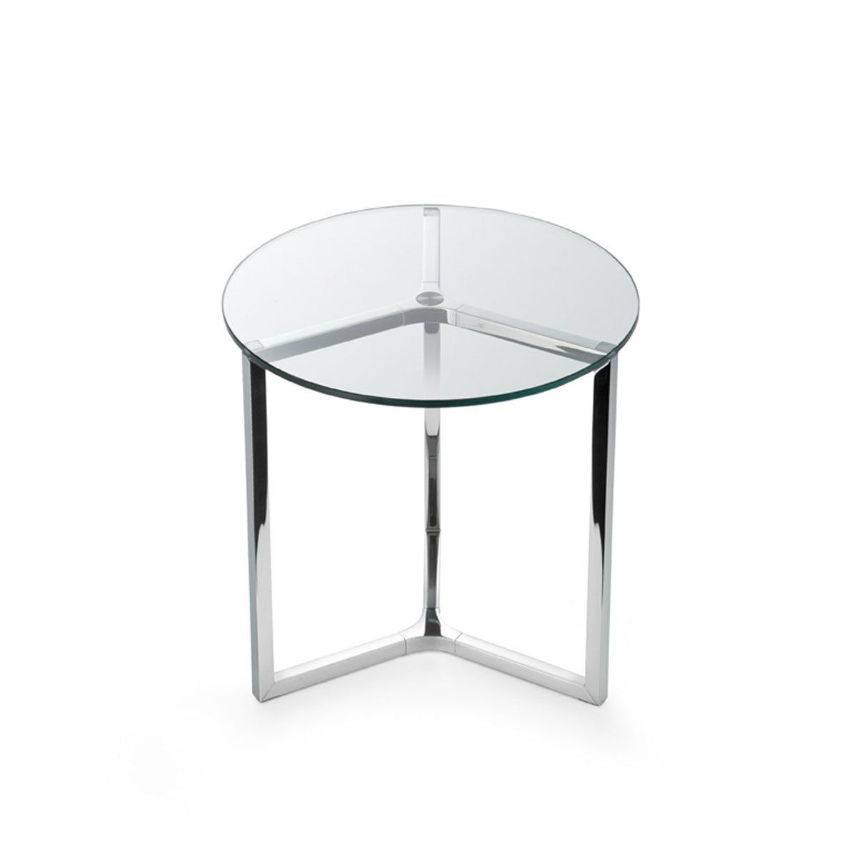 Raj 2 glass and metal side table by gallotti radice for Glass furniture