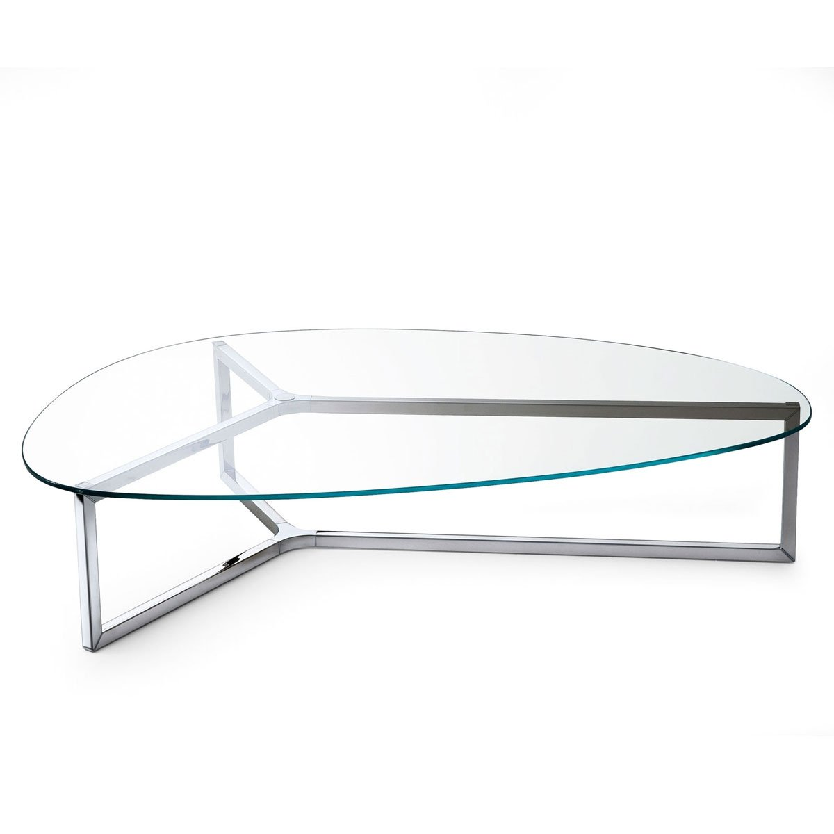 Raj 3 glass and metal coffee table by gallotti radice klarity glass furniture Metal and glass coffee table