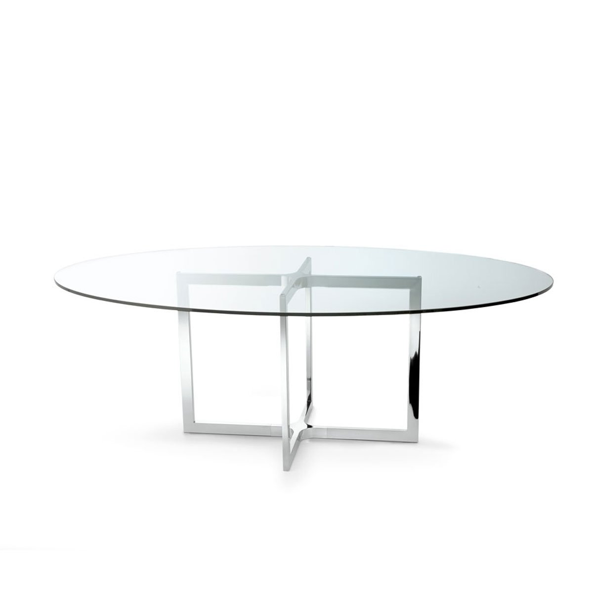 Raj 4 Glass And Metal Table By Gallotti Radice Klarity Glass Furniture