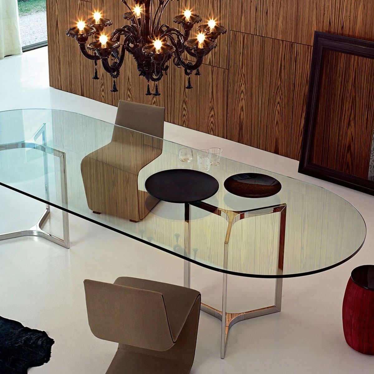 Raj Glass And Metal Table By Gallotti Radice Klarity Glass Furniture