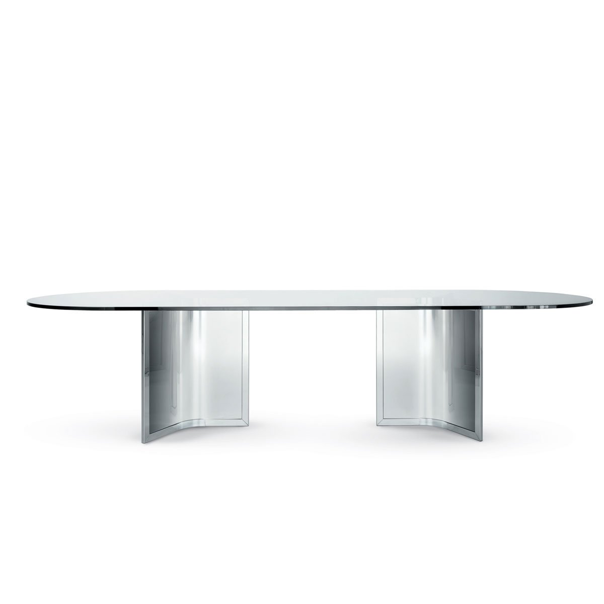 Raj Glass And Metal Table By Gallotti Radice Klarity Glass Furniture