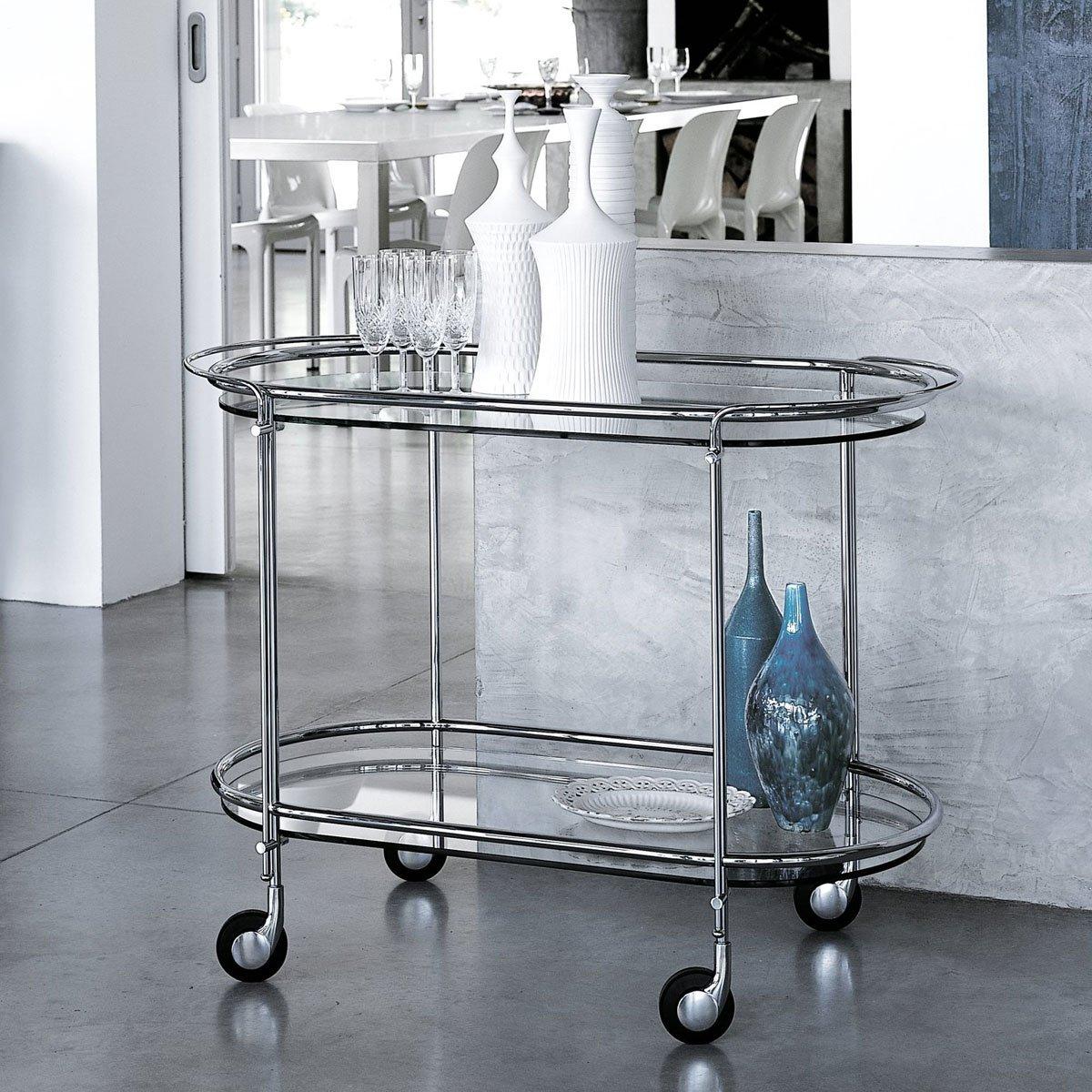 Riki Glass And Metal Trolley By Gallotti Radice