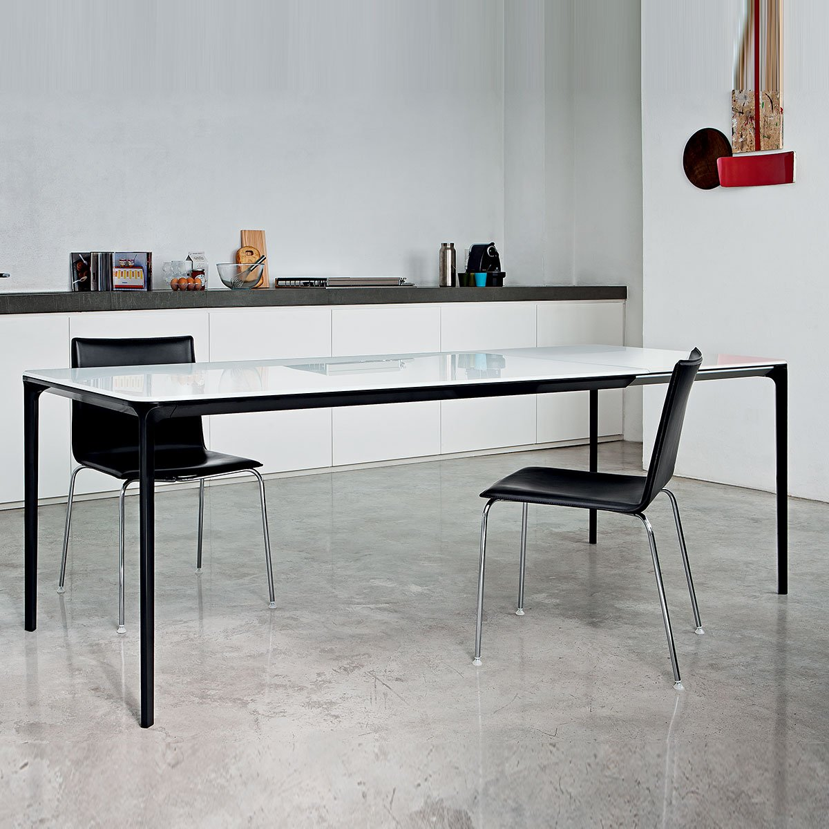 Slim Extending Dining Table Klarity Glass Furniture