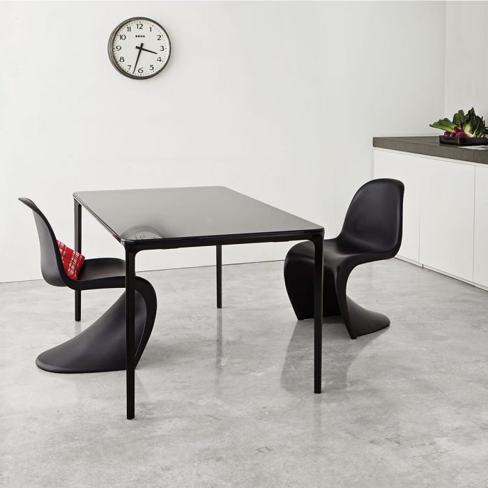 Glass Dining Tables Slim Glass And Metal Dining Table By Sovet