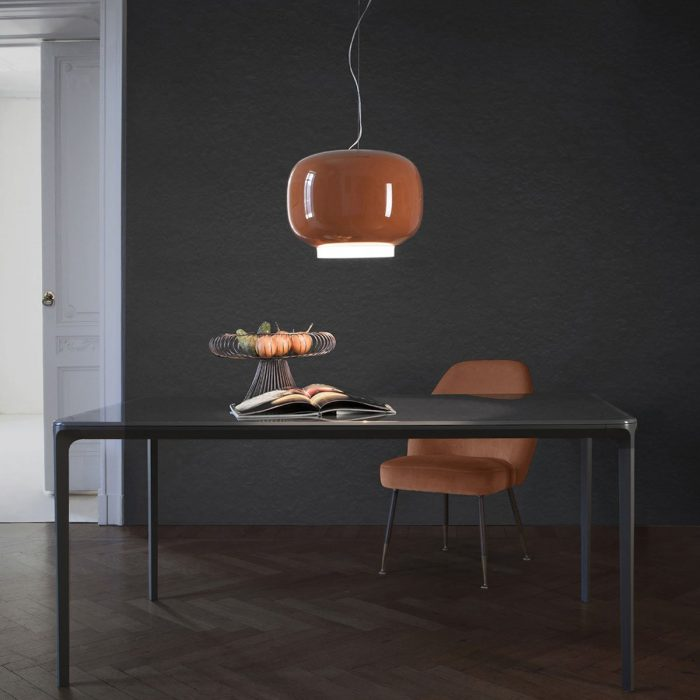 Slim Glass And Metal Dining Table By Sovet Italia7