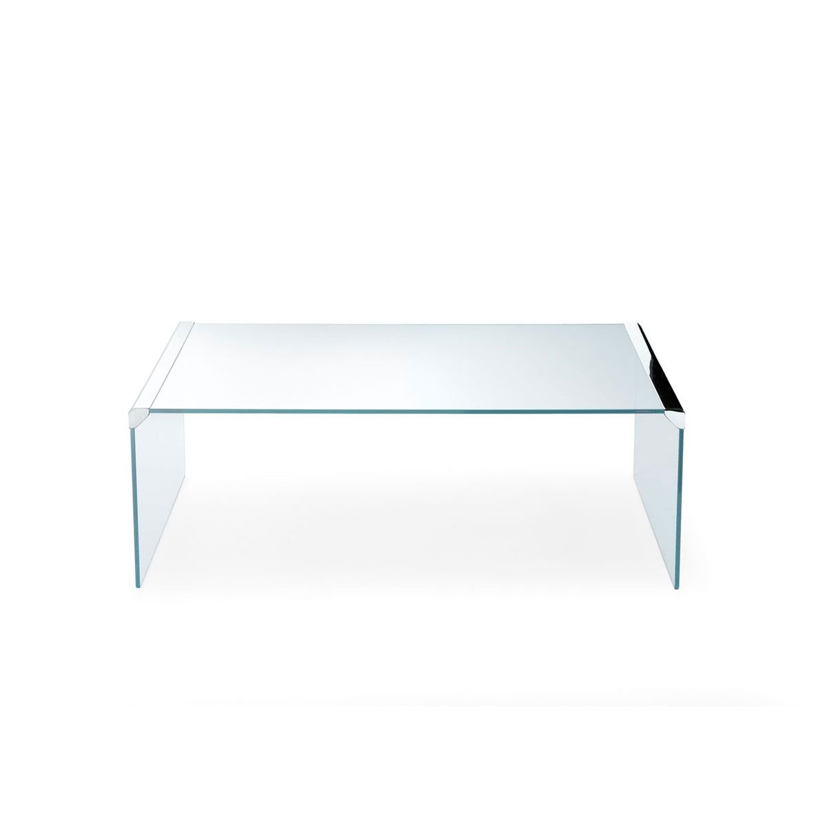 T33 Glass And Metal Coffee Table By Gallotti Radice Klarity Glass Furniture