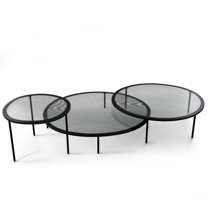 Taffy Glass and Metal Coffee table by Gallotti & Radice