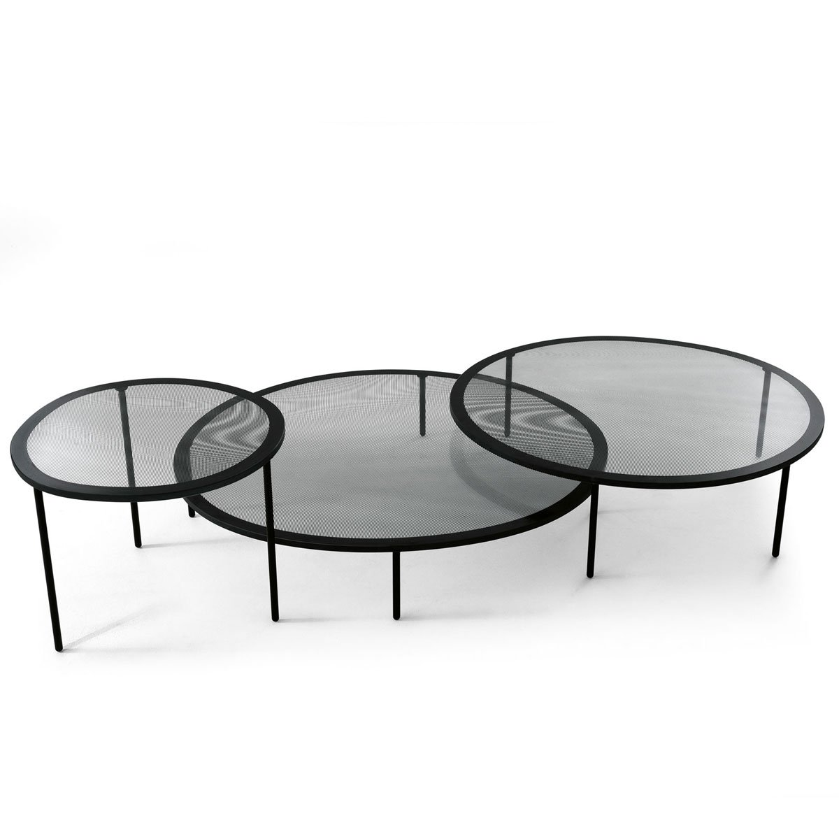 Taffy glass and metal coffee table by gallotti radice klarity glass furniture Metal and glass coffee table