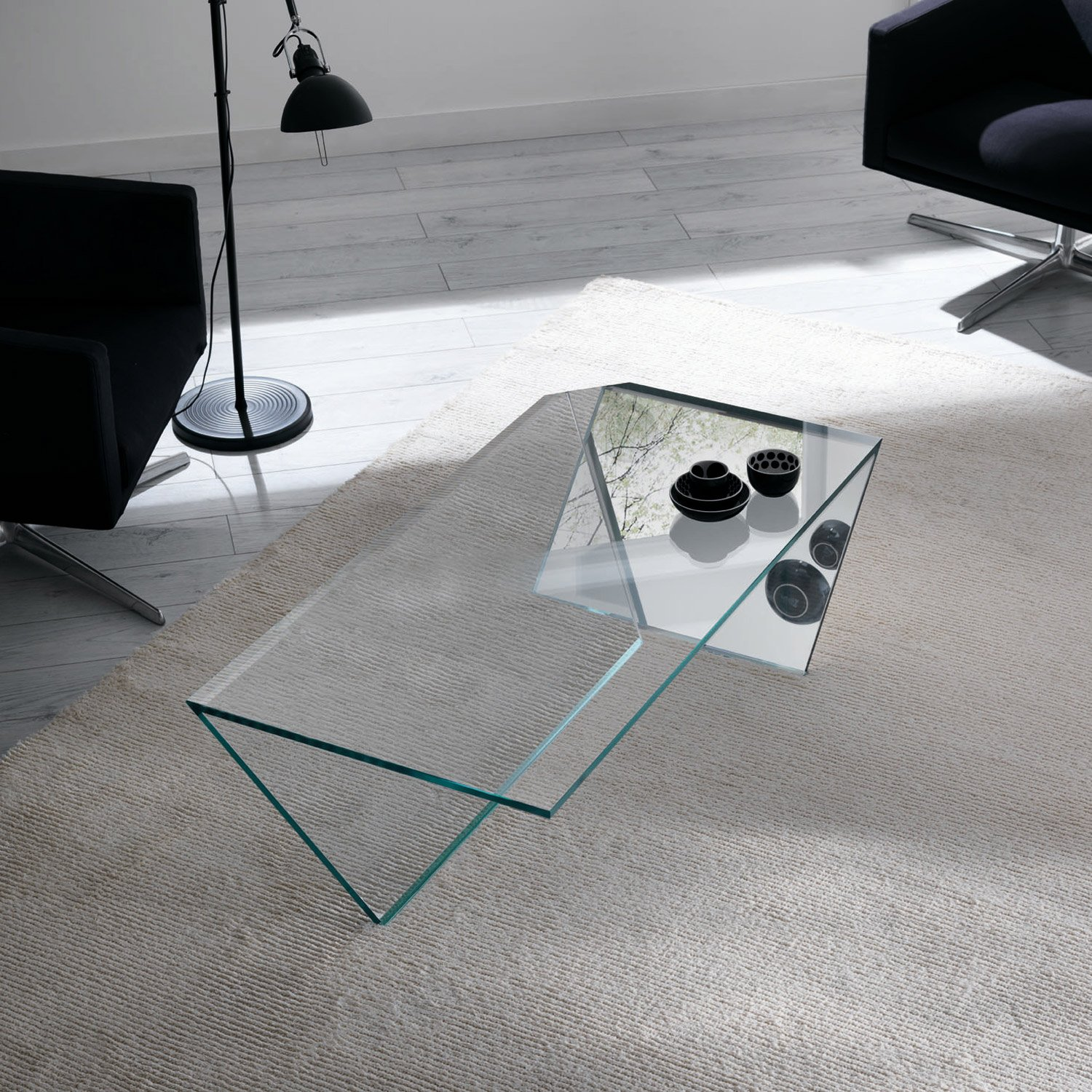 Glass Coffee Tables Uk Only: Ti Glass Coffee Table By Tonelli