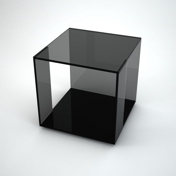 Tifino black glass table