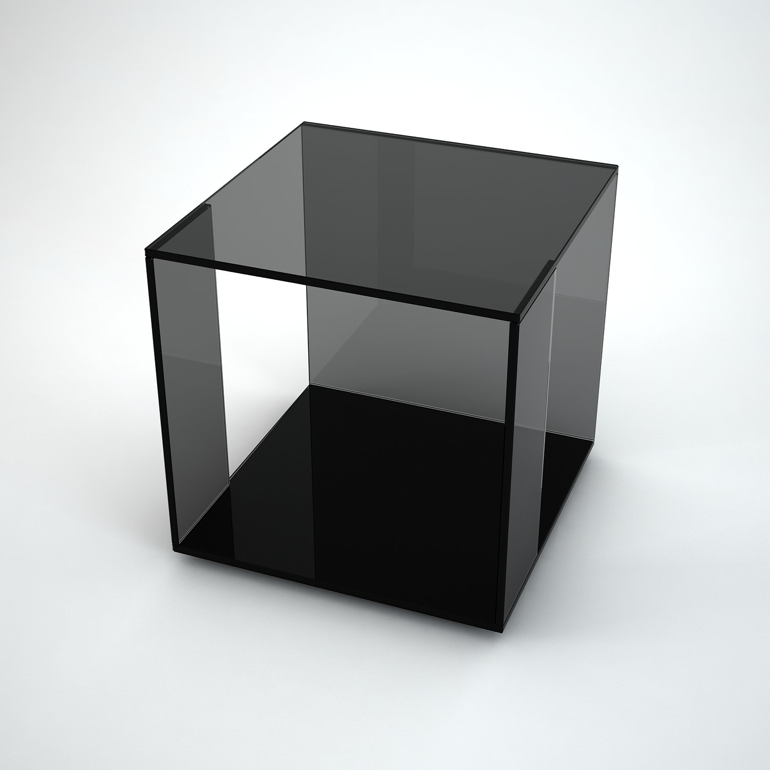 Tifino grey tint glass side table by klarity klarity for Glass furniture