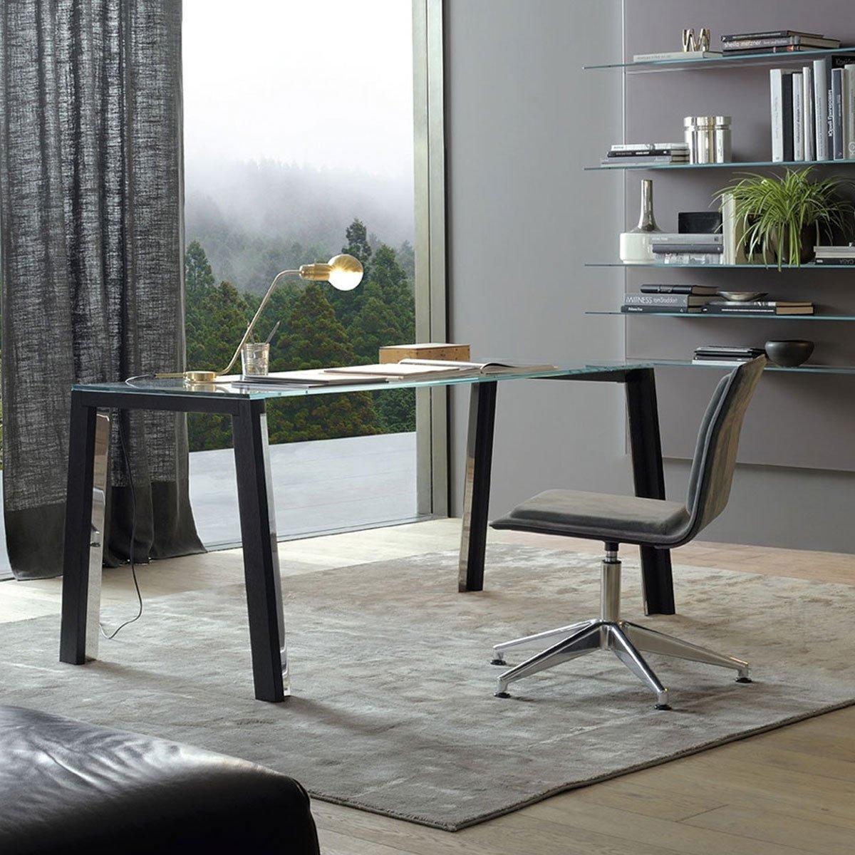 WGS Glass And Wood Table By Gallotti U0026 Radice