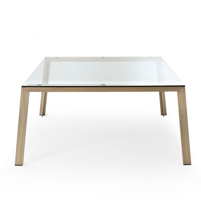 WGS Glass and Wood Table by Gallotti & Radice
