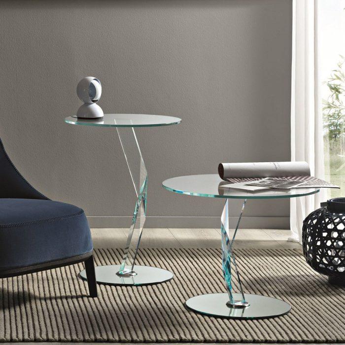 bakkarat glass table by tonelli
